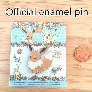 Rare official pokemon eevee enamel pin
